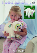Sirdar Snuggly Snowflake DK & Snuggly Baby Crofter DK - 4610 Lamb Toy Knitting Pattern